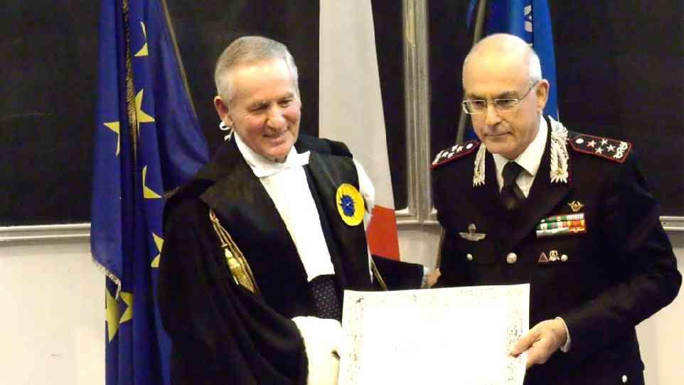 Il Sigillo dell'Università di Urbino al Comandante Generale